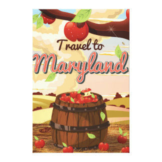 Travel To Maryland travel poster Canvas Print