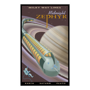 Travel To Saturn Poster at Zazzle