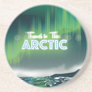 Travel to the Arctic Travel Poster Art Drink Coaster
