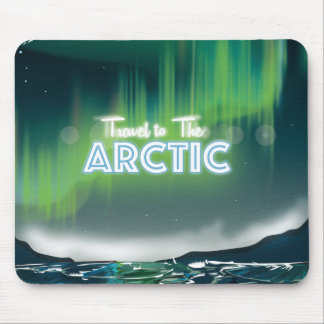 Travel to the Arctic Travel Poster Art Mouse Pad