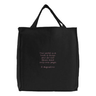 Travel Tote Embroidered Tote Bag
