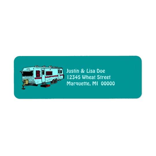 Travel Trailer Camp Glamping Camper Address Labels