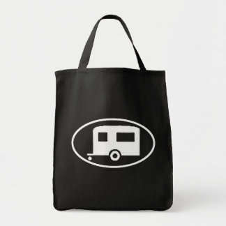 Travel Trailer Oval Tote Bag