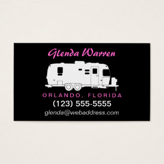 Travel Trailer RV Silhouette Calling Card