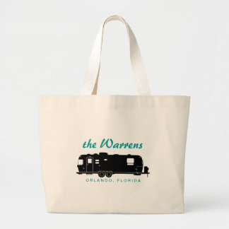 Travel Trailer RV Silhouette Graphic Canvas Bag