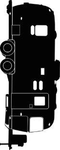 Travel Trailer RV Silhouette On Keychain