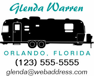 Travel Trailer RV Silhouette Personal Calling Card