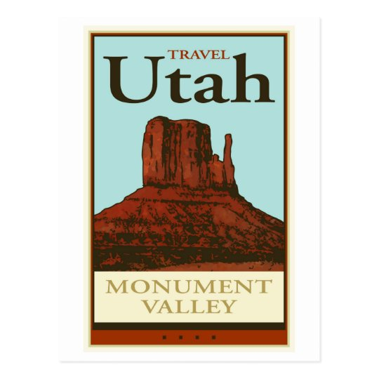 Travel Utah Postcard