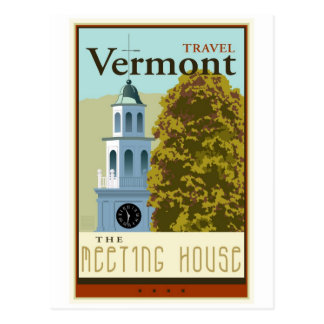 Travel Vermont Postcard