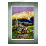 Travel Vintage Poster Abruzzo Italy Cards