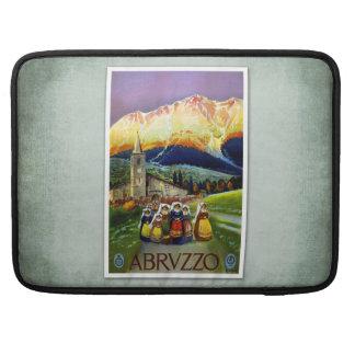 Travel Vintage Poster Abruzzo Italy MacBook Pro Sleeve