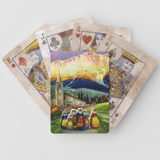 Travel Vintage Poster Abruzzo Italy Bicycle Card Decks