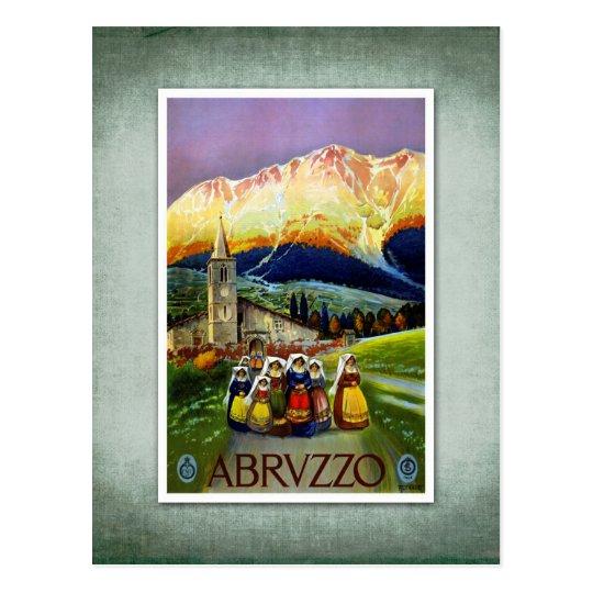 Travel Vintage Poster Abruzzo Italy Postcard