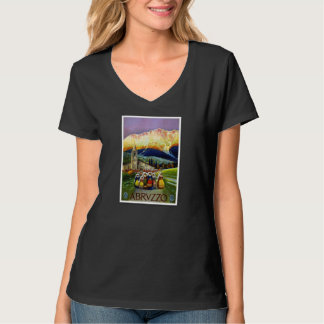 Travel Vintage Poster Abruzzo Italy T-Shirt