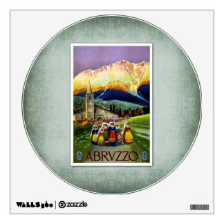 Travel Vintage Poster Abruzzo Italy Room Decals