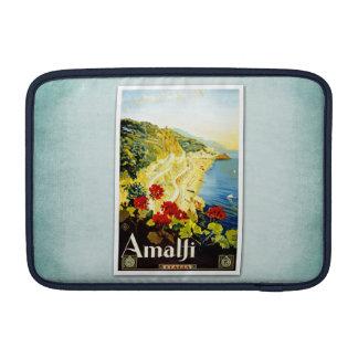 Travel Vintage Poster Amalfi Italy MacBook Sleeves