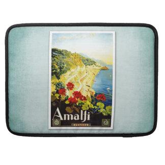 Travel Vintage Poster Amalfi Italy Sleeve For MacBooks