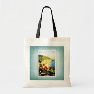 Travel Vintage Poster Amalfi Italy Tote Bag
