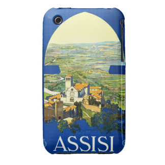 Travel Vintage Poster Assisi Italy Case-Mate iPhone 3 Cases