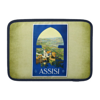 Travel Vintage Poster Assisi Italy MacBook Sleeves