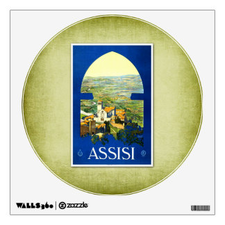 Travel Vintage Poster Assisi Italy Wall Skin