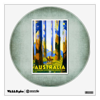 Travel Vintage Poster Australia Room Decal