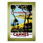 Travel Vintage Poster Cannes France Card