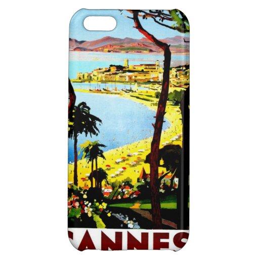 Travel Vintage Poster Cannes France Case For iPhone 5C