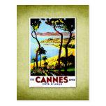 Travel Vintage Poster Cannes France Postcard