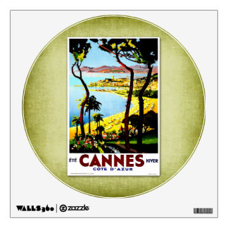Travel Vintage Poster Cannes France Room Graphic