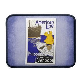 Travel Vintage Poster Ship Travel MacBook Sleeve