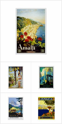 Travel Vintage Posters Collection
