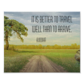 Travel Well Buddha Quote Poster