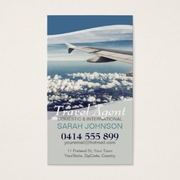 Travel Window Seat Clouds Business Card
