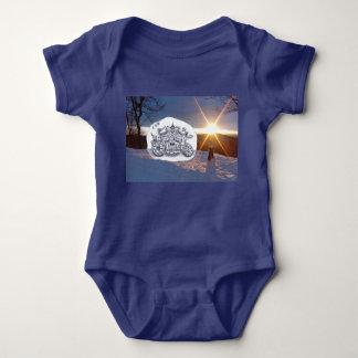 Travel with Mr Snowman Baby Bodysuit