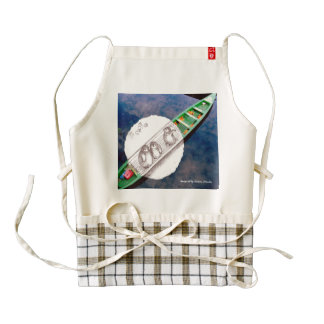 Travel with Penguins - creative kitchen gift Zazzle HEART Apron