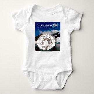 Travel with Polar Bear lovely sketch Baby Bodysuit