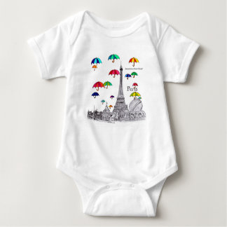 Travel with Umbrellas Baby Bodysuit