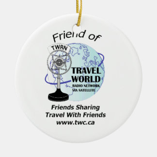 Travel World Radio Show Christmas Ornament! Ceramic Ornament