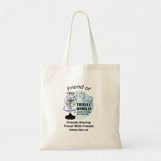 Travel world Radio Show Tote Bag