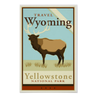Travel Wyoming Poster