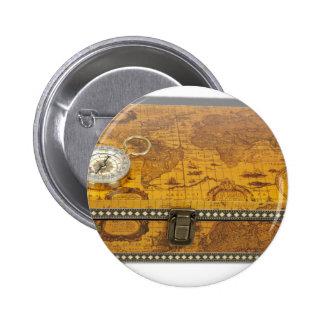 TravelBoxCompass060910Shadows Pin Redondo De 2 Pulgadas