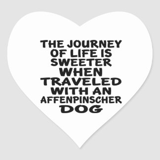 Traveled With A Affenpinscher Life Partner Heart Sticker