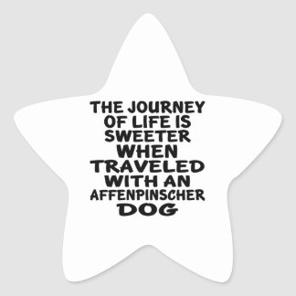 Traveled With A Affenpinscher Life Partner Star Sticker