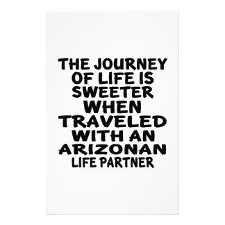 Traveled With A Arizonan Life Partner Stationery