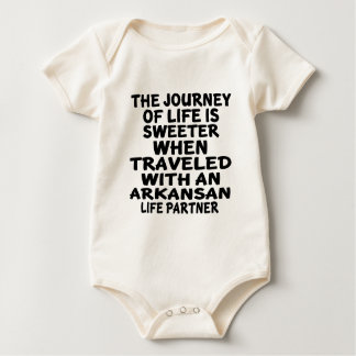 Traveled With A Arkansan Life Partner Baby Bodysuit
