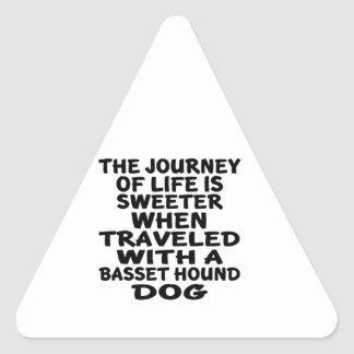 Traveled With A Basset Hound Life Partner Triangle Sticker