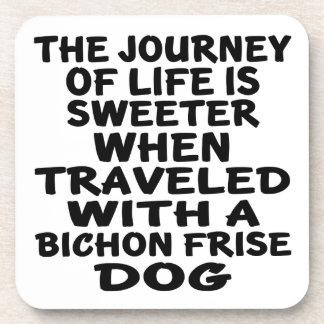 Traveled With A Bichon Frise Life Partner Coaster