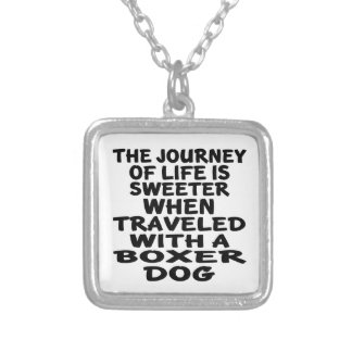 Traveled With A Boxer Life Partner Silver Plated Necklace