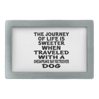 Traveled With A Chesapeake Bay Retriever Life Part Rectangular Belt Buckle
